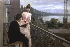 View from the artist's balcony, Sortedams Dosseringen