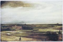 View of Saxenburg estate with bleaching fields near Haarlem