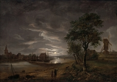 View of Stege in Moonlight