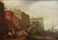 Vue du port de Ripa Grande.