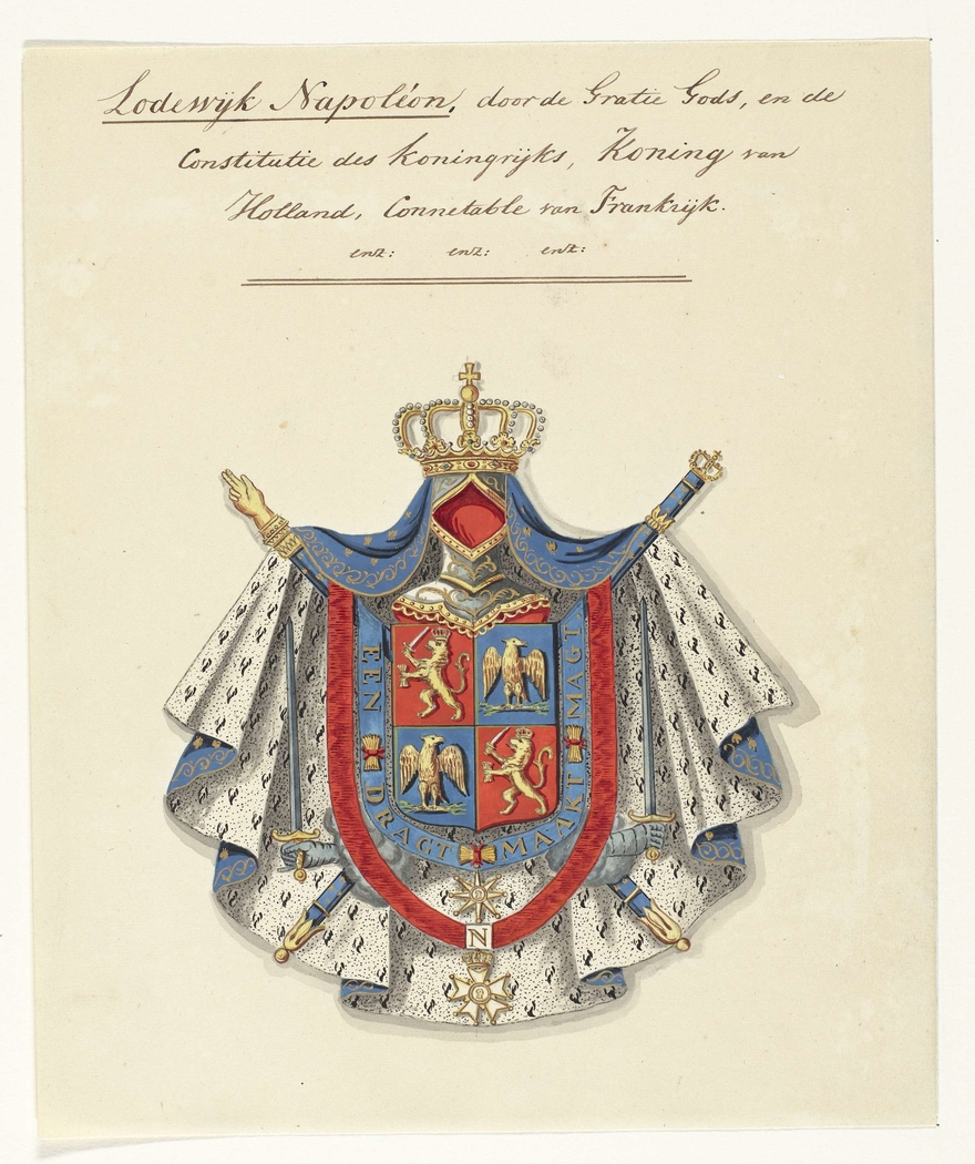 Wapencompositie van Lodewijk Napoleon Bonaparte