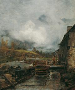 Wassermühle in Goisern (nach Emil Jakob Schindler)