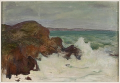 Waves in a rocky bay