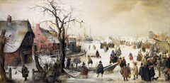 Winter Scene on a Canal