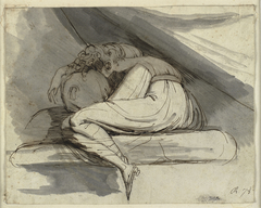 Woman Sitting, Curled up