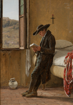 Young Clergyman Reading