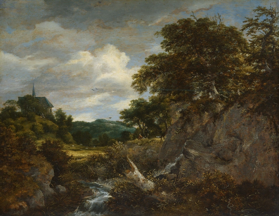 A Mountain Landscape with a Chapel