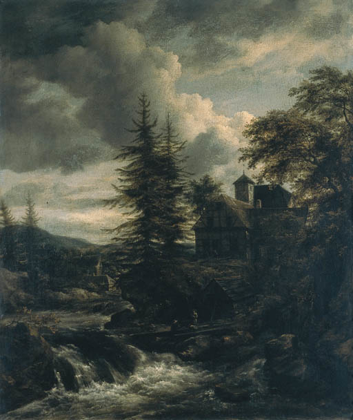 A Scandinavian Landscape with a Watermill