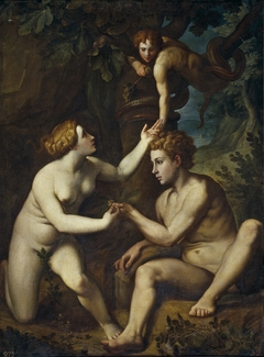 Adam and Eve receive from the forbidden fruit