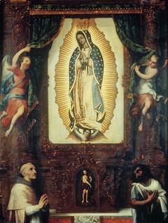 Altarpiece of the Virgin of Guadalupe with Saint John the Baptist, Fray Juan de Zumárraga and Juan Diego