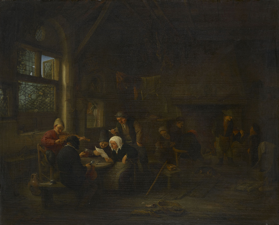 An Evening Scene in a Tavern, with a Fiddler