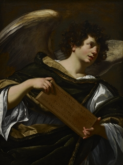 Angels with Attributes of the Passion, the Superscription from the Cross