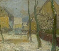 Artist's Courtyard in Slanec in Winter