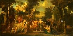 Besuch der Minerva bei den Musen auf dem Parnass