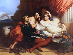 Boccaccio reading from the Decameron to Queen Johanna of Naples