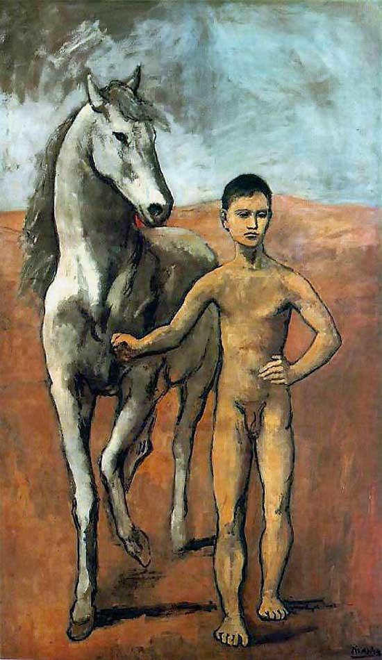 Boy Leading a Horse