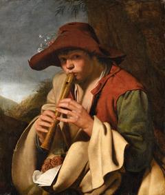 Boy Playing a Flute (Il Pifferaio)