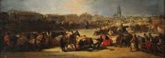 Bullfight in a village