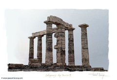 CALEPINAGE CAP SOUNION II - by Pascal