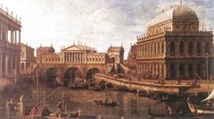 Capriccio: a Palladian Design for the Rialto Bridge, with Buildings at Vicenza