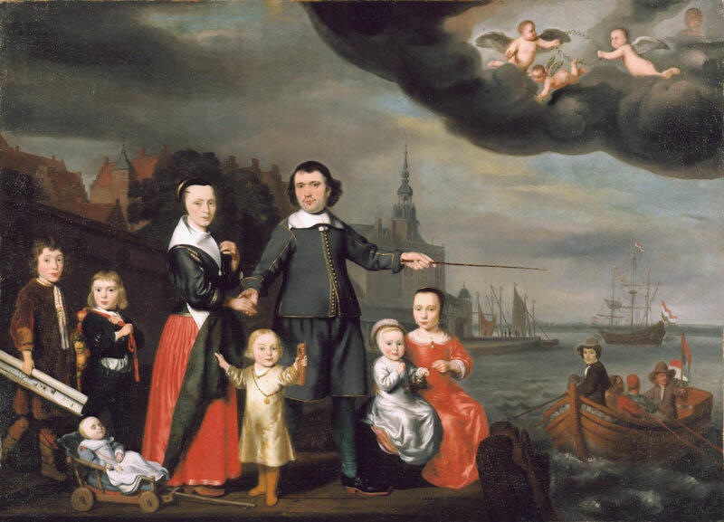Captain Job Jansse Cuijter and His Family