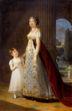 Caroline Bonaparte, queen of Naples, with her daughter Laetitia Murat