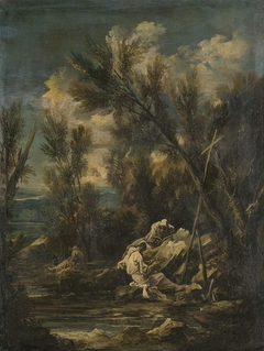 Carthusian Monks in a Landscape