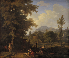 Classical Landscape with Diana (?) and her Nymphs