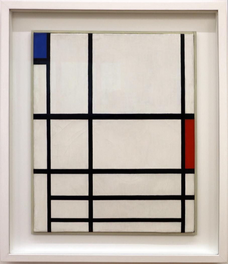 Composition II ; Composition 2 avec rouge et bleu