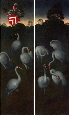 Cranes with coat of arms