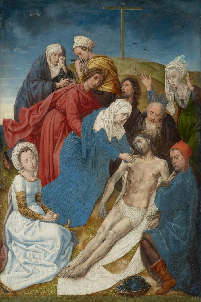 Diptychon mit Sündenfall und Erlösung (Beweinung Christi): Beweinung Christi