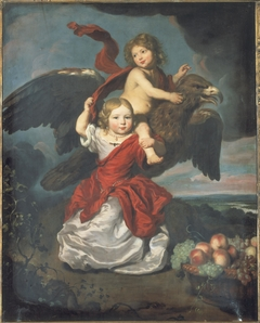 Double portrait of two children as Hebe and Ganymede