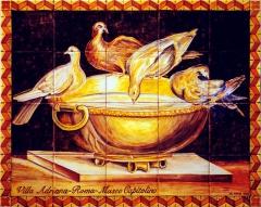 Doves drinking