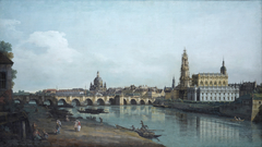 Dresden from the Right Bank of the Elbe below the Augustus Bridge