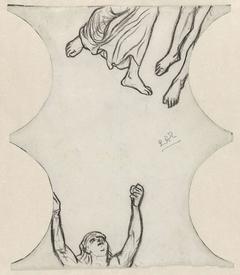Drie figuren, gedeeltelijk weergegeven