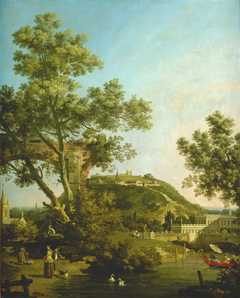 English Landscape Capriccio with a Palace