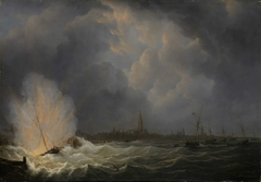 Explosion at Antwerp of Dutch Gunboat No. 2, Commanded by Jan van Speyk, 5 February 1831