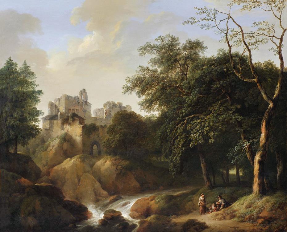 Fantasy Landscape With Castle Ruins Laurenz Janscha