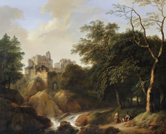 Fantasy Landscape with Castle Ruins