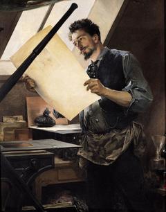 Felicien Rops in his Studio