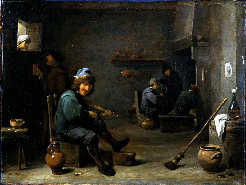 Fiddler in a Tavern