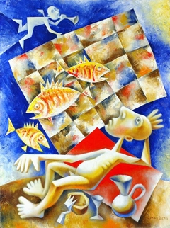 Fisherman. 2006. Oil, canvas. 80x60 cm