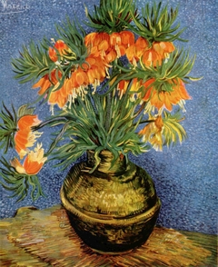 Fritillaires in a Copper Vase