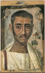 Funeral portrait of a man