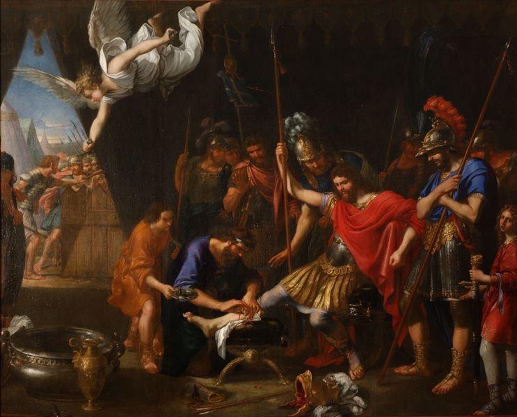 Godefroy de Bouillon soigné par un ange