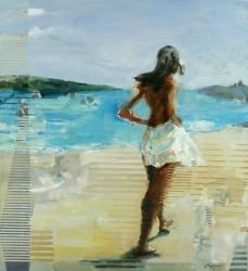 Gosia at the Sea