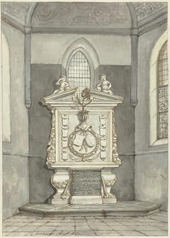 Grafstede van Adriaen Pauw in Nederlands Hervormde Kerk te Heemstede