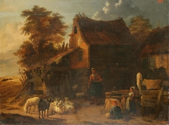 Herd of Sheep near a Peasant House