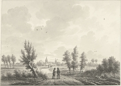 Het dorp Huissen (?) in Gelderland