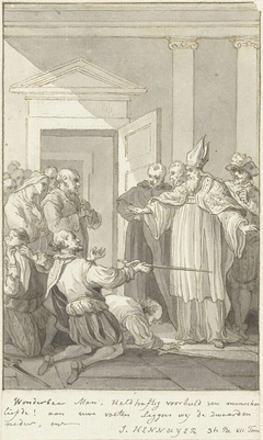 Illustratie voor het toneelstuk Hennuyer, Bisschop van Lisieux